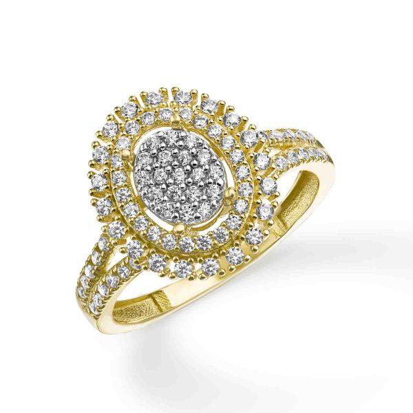 טבעת זהב - אליזבת - זהב צהוב