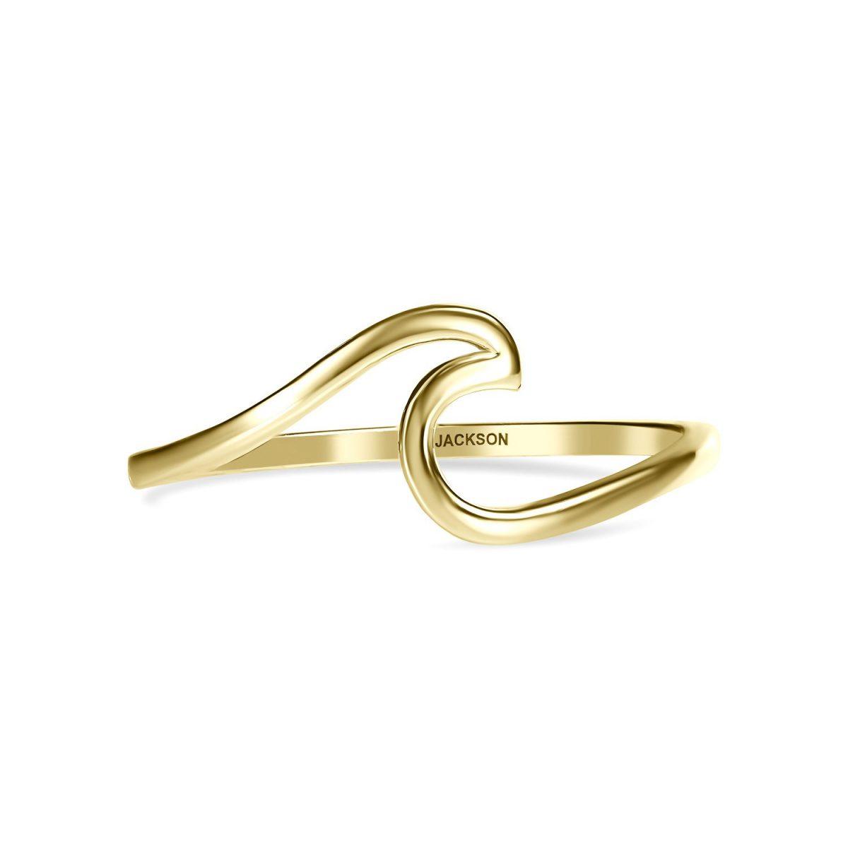 טבעת זהב גל - זהב צהוב