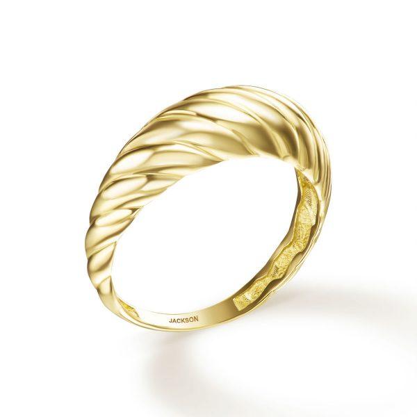 טבעת זהב וינטג' - פרלה - זהב צהוב