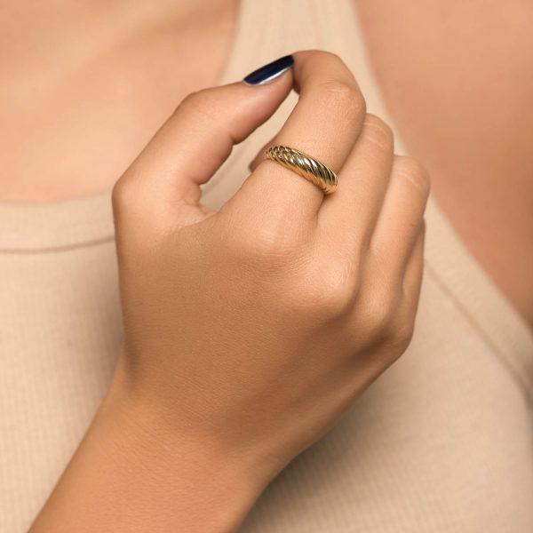 טבעת זהב וינטג' - פרלה