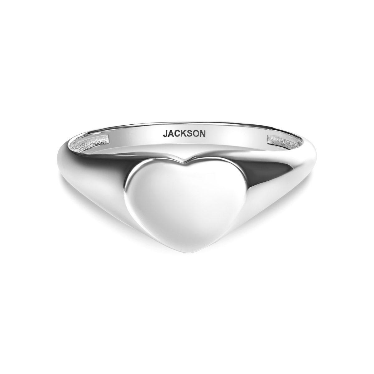 טבעת זהב לב מושלם - זהב לבן