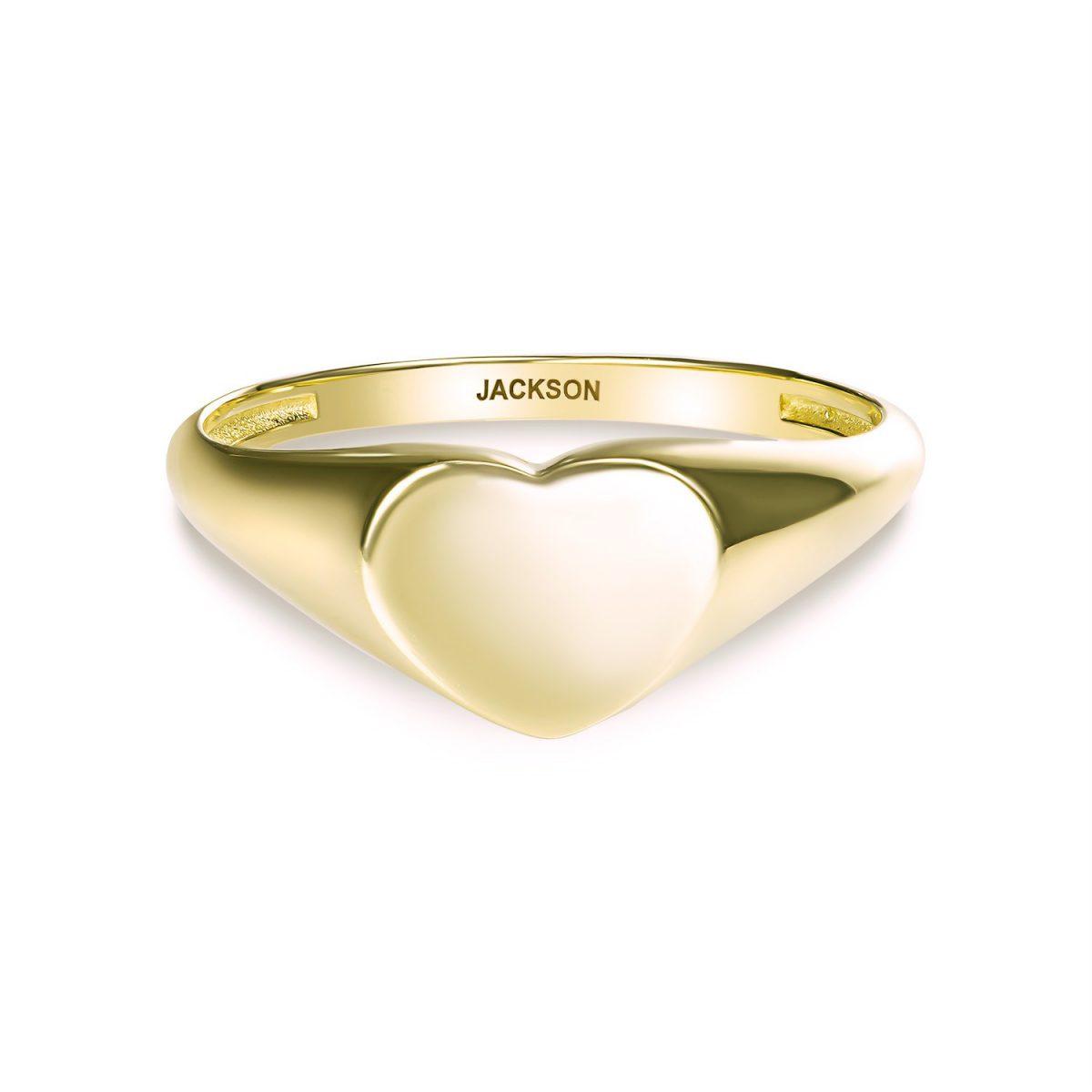 טבעת זהב לב מושלם - זהב צהוב