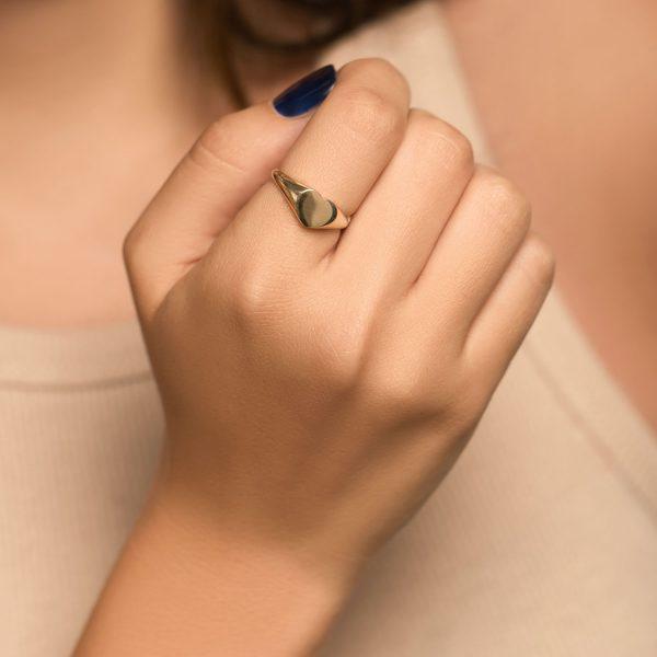 טבעת זהב - לב מושלם