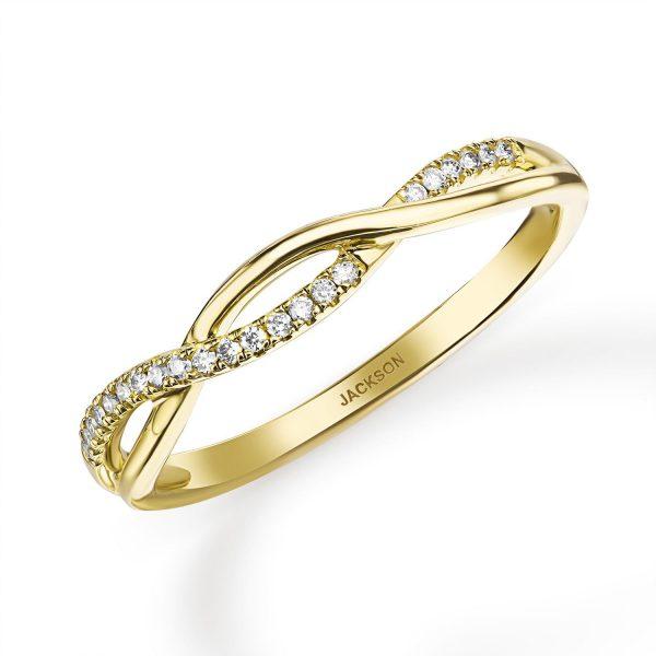 טבעת יהלומים - קארין - זהב צהוב