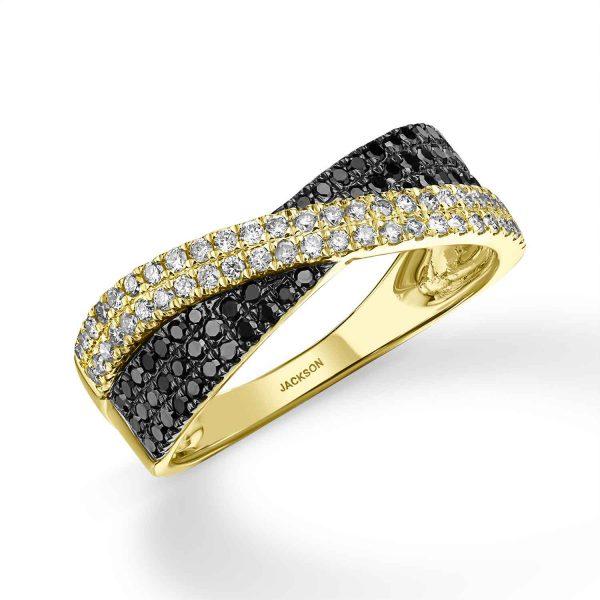 טבעת יהלומים - קלאודיה - זהב צהוב