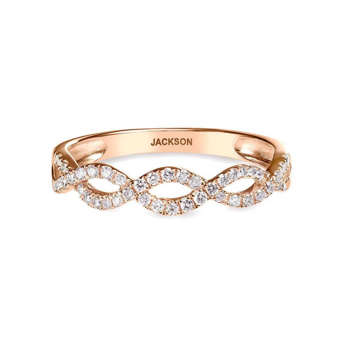 טבעת יהלומים קלרה - זהב אדום