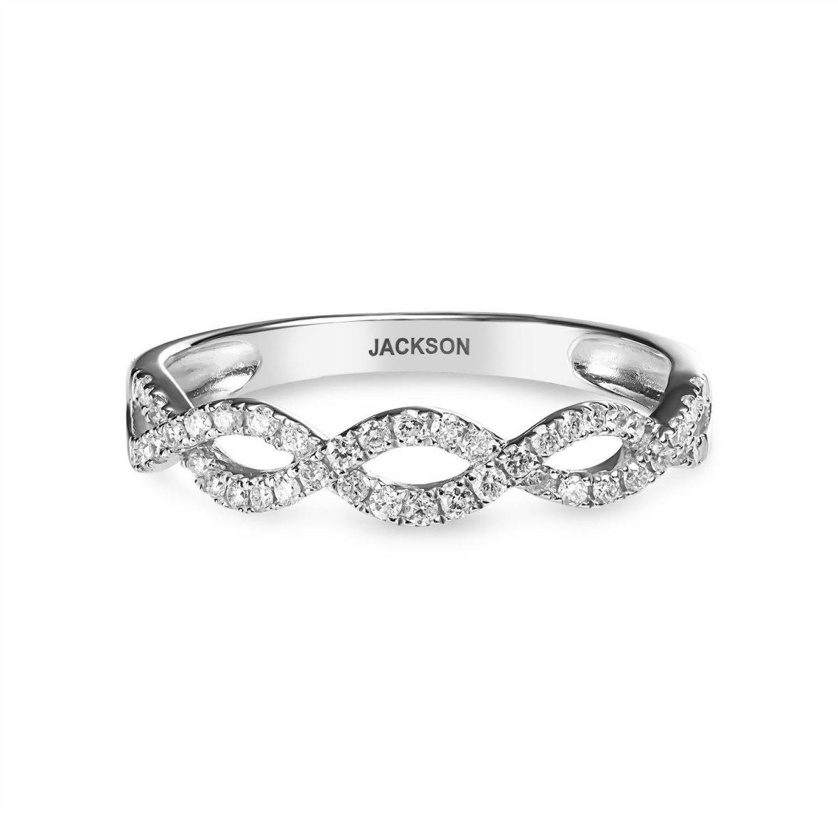 טבעת יהלומים קלרה - זהב לבן