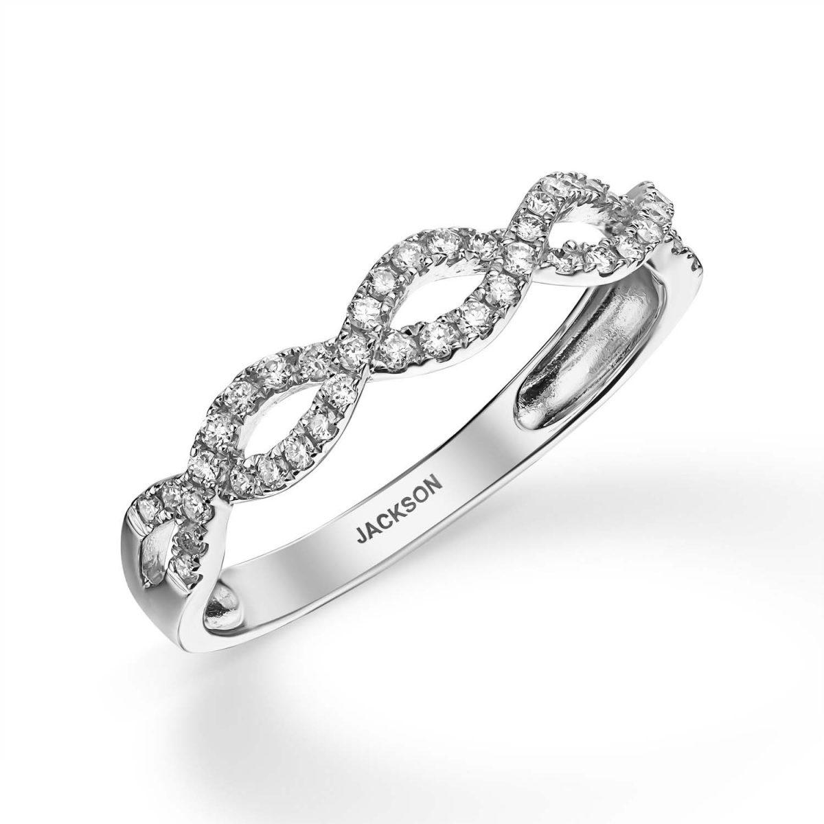 טבעת יהלומים - קלרה - זהב לבן