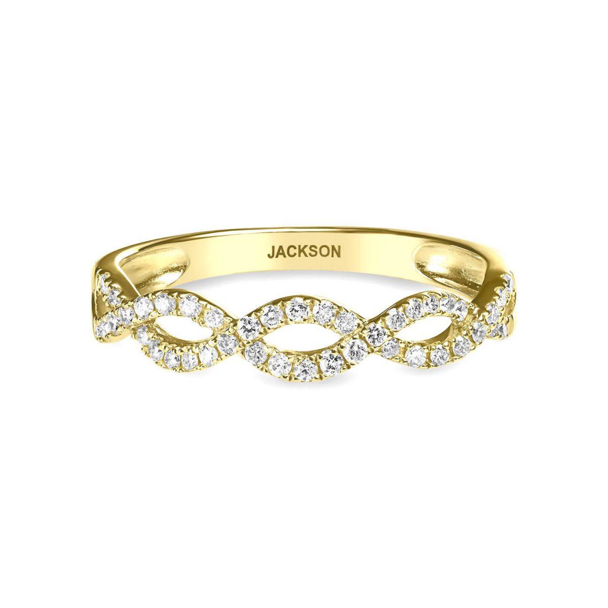 טבעת יהלומים קלרה - זהב צהוב