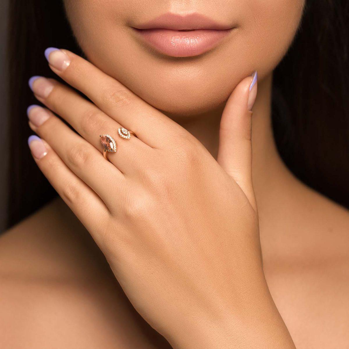 טבעת יהלומים קרולין