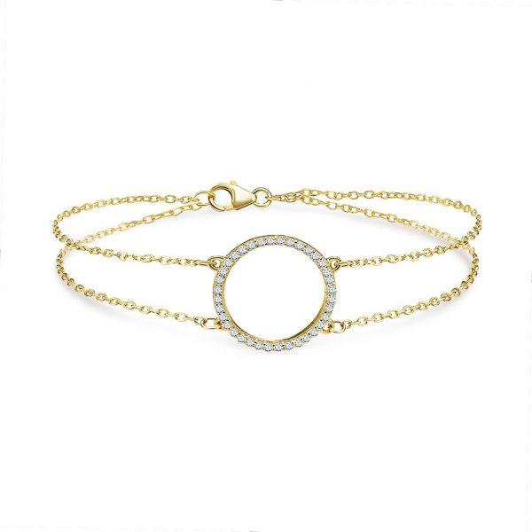 צמיד זהב - מעגל החיים - זהב צהוב