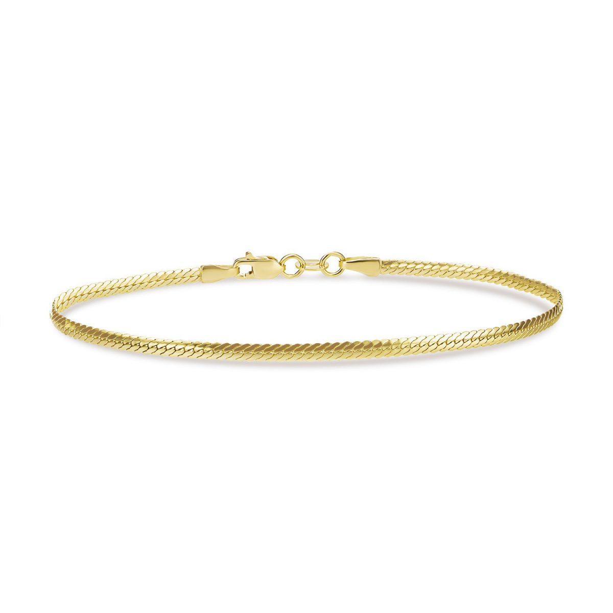 צמיד זהב - שירין - זהב צהוב