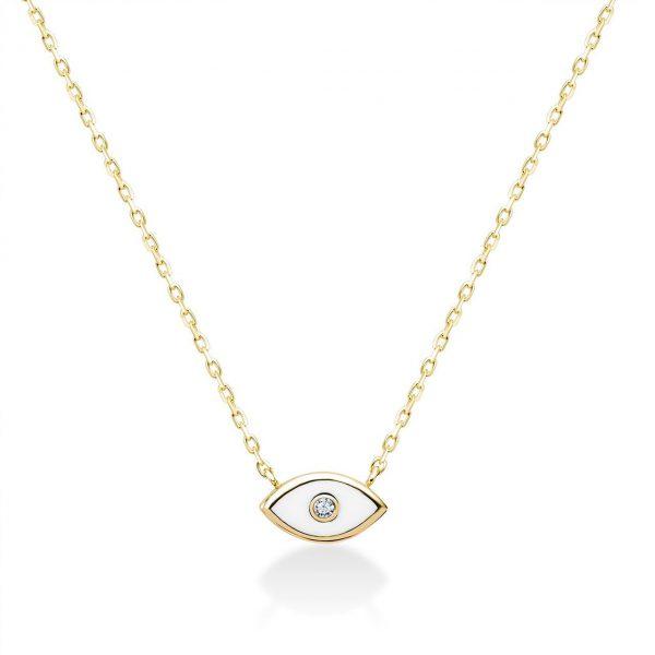 שרשרת זהב - עין קטנה - זהב צהוב
